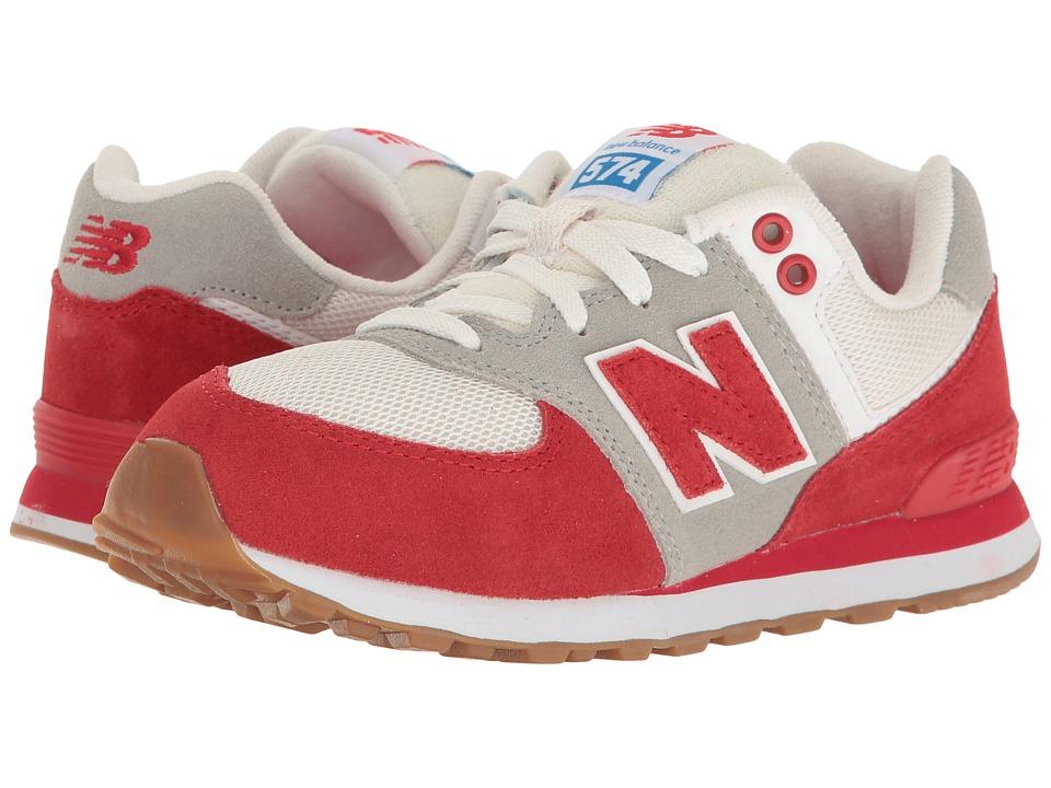 New Balance Kids KL574v1 (Little Kid) (Red/White) Boys Shoes