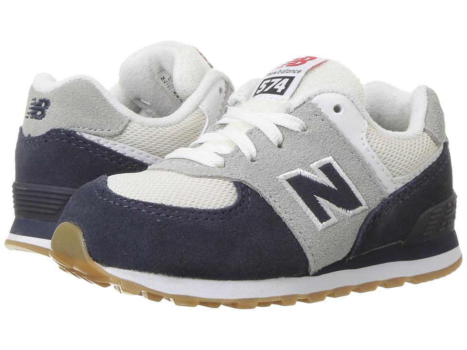 New Balance Kids KL574v1 (Infant/Toddler) (Blue/White) Boys Shoes