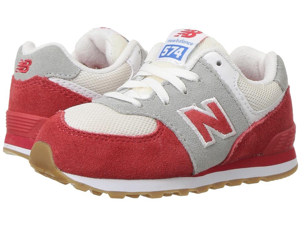 New Balance Kids KL574v1 (Infant/Toddler) (Red/White) Boys Shoes