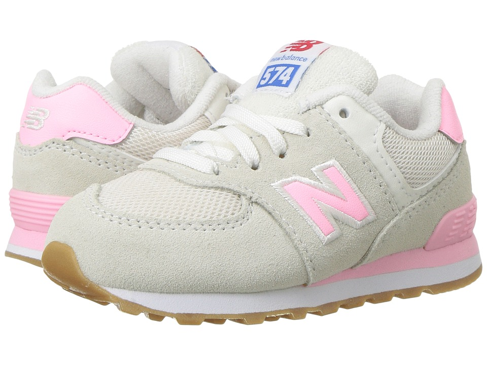 New Balance Kids KL574v1 (Infant/Toddler) (Pink/White) Girls Shoes
