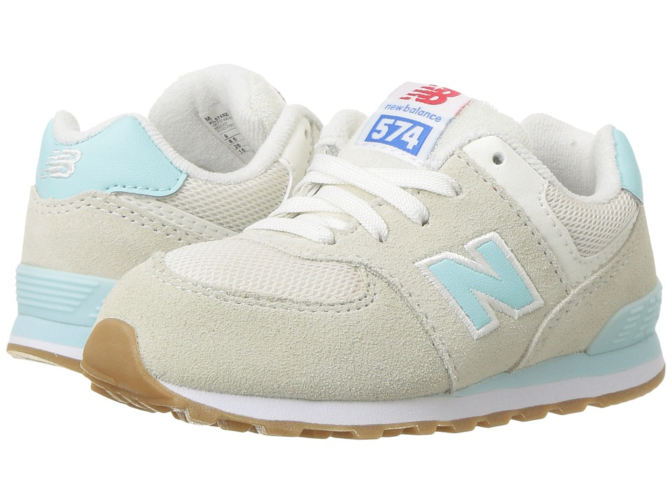 New Balance Kids KL574v1 (Infant/Toddler) (Teal/White) Girls Shoes