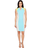 Tahari by ASL - Sporty Crepe Color Block Sheath