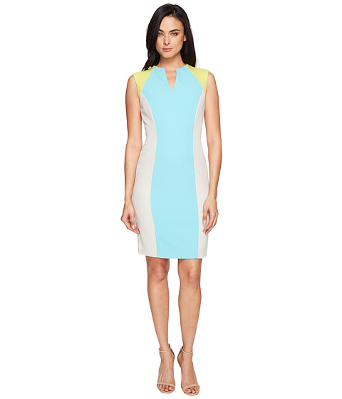 Tahari by ASL Sporty Crepe Color Block Sheath