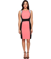 Tahari by ASL - Crepe Wide-Stripe Color Block Sheath