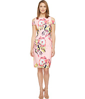 Tahari by ASL - Cold Shoulder Floral Crepe Sheath