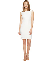 Tahari by ASL - Crochet Inset Scuba Crepe Sleeveless Sheath