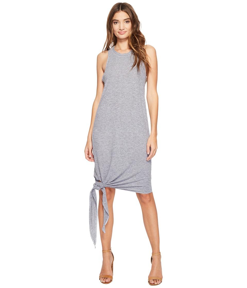 Lanston - Asymmetrical Midi Tie Dress