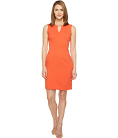 Tahari by ASL - Bamboo Notch Neck Sleeveless Textured Sheath