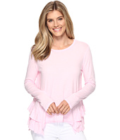 Dylan by True Grit - Vintage Soft Cotton Long Sleeve Double Ruffle Tee