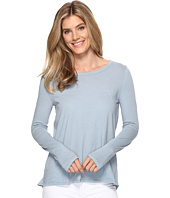 Dylan by True Grit - Vintage Soft Cotton Long Sleeve Tiered Back Tee