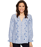 Dylan by True Grit - Rosemary Tribal Indigo Blouse