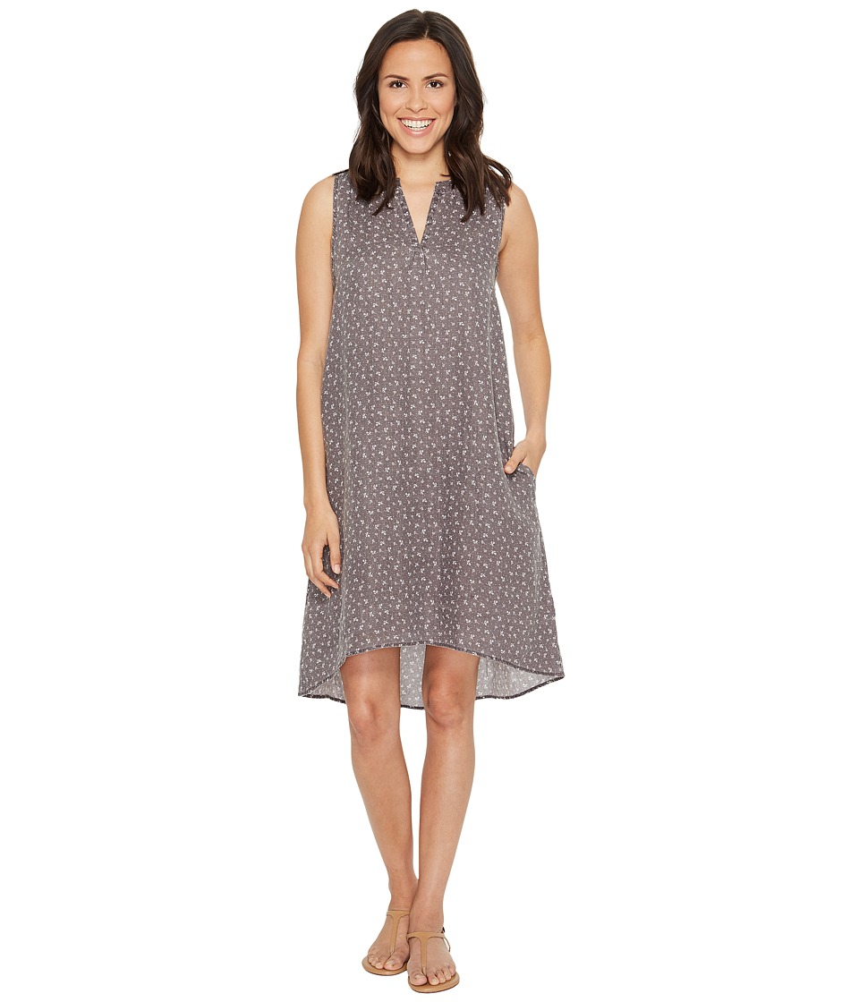 Dylan by True Grit - Vintage Jane Printed Linen Sleeveless Shirt Dress with Pockets