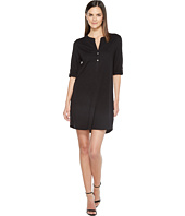 Lilla P - Tab Sleeve Henley Dress