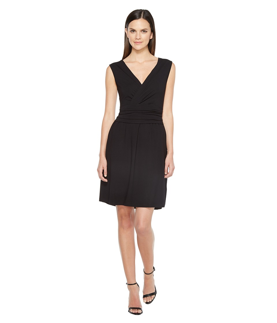 Lilla P Shirred Waist Dress (Black) Women