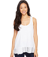 Dylan by True Grit - Soft Slub Knit Tank Top with Lace Rib Border