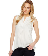 Dylan by True Grit - Turkish Stripe High-Low Sleeveless Tunic