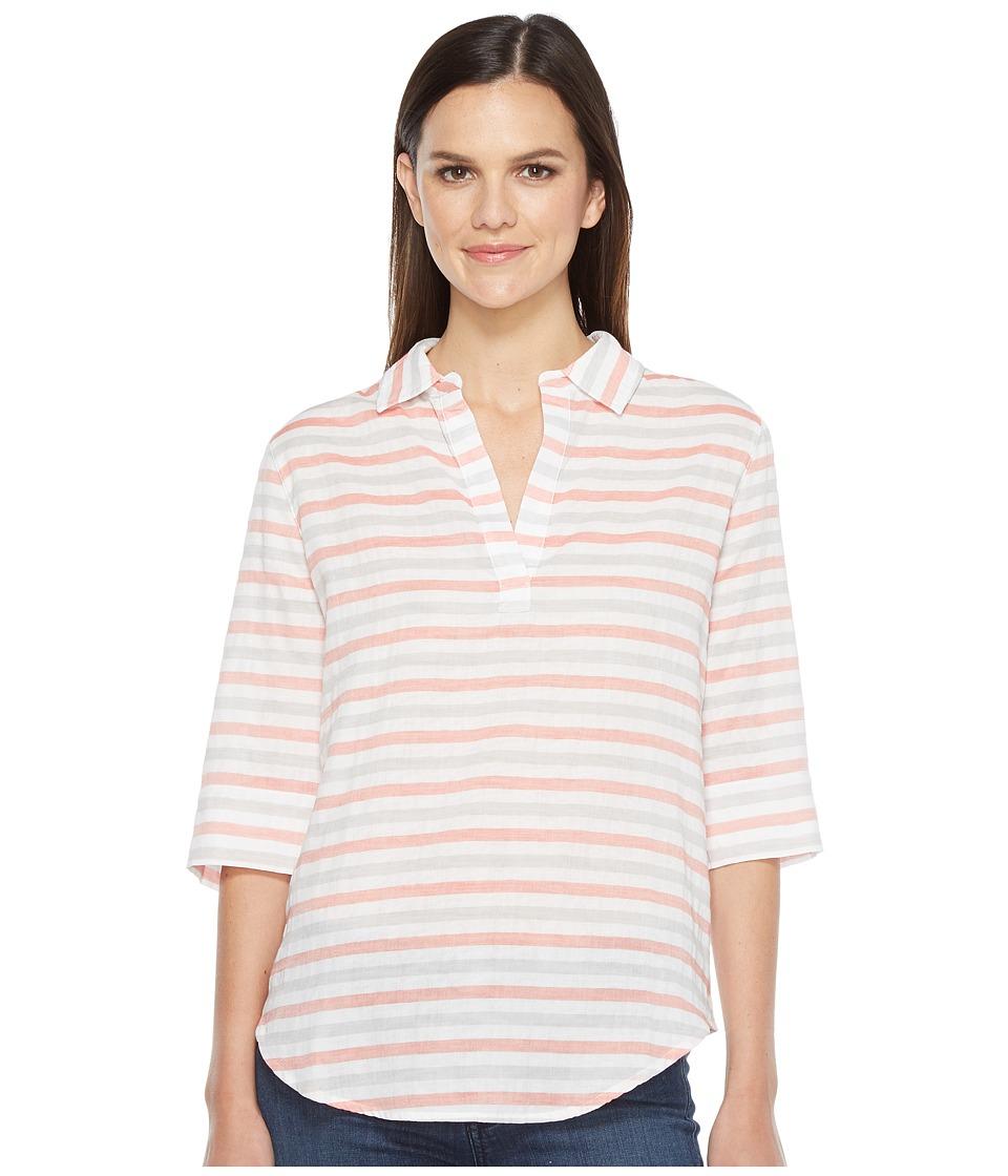 Lilla P Elbow Sleeve Popover (Orange Crush) Women's Clothing