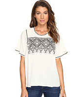 Lilla P - Short Sleeve Embroidered Top