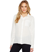 Dylan by True Grit - Luxe Linen Long Sleeve One-Pocket Boyfriend Shirt