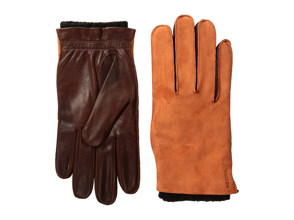 Hestra Dylan (Red/Brown) Dress Gloves
