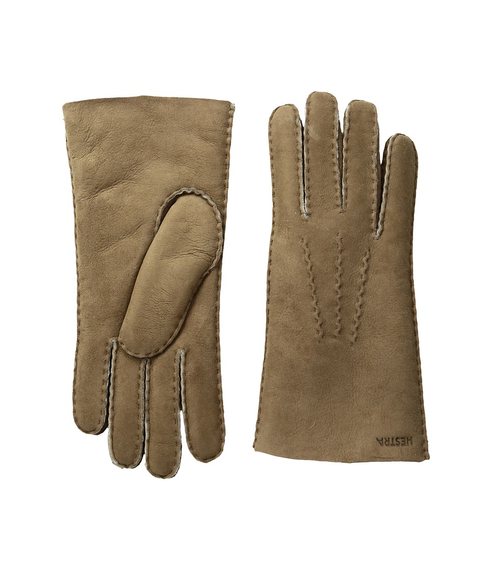 Hestra Sheepskin Gloves (Beige) Dress Gloves