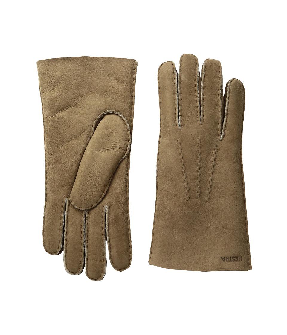 Hestra Sheepskin Gloves (Beige) Dress Gloves