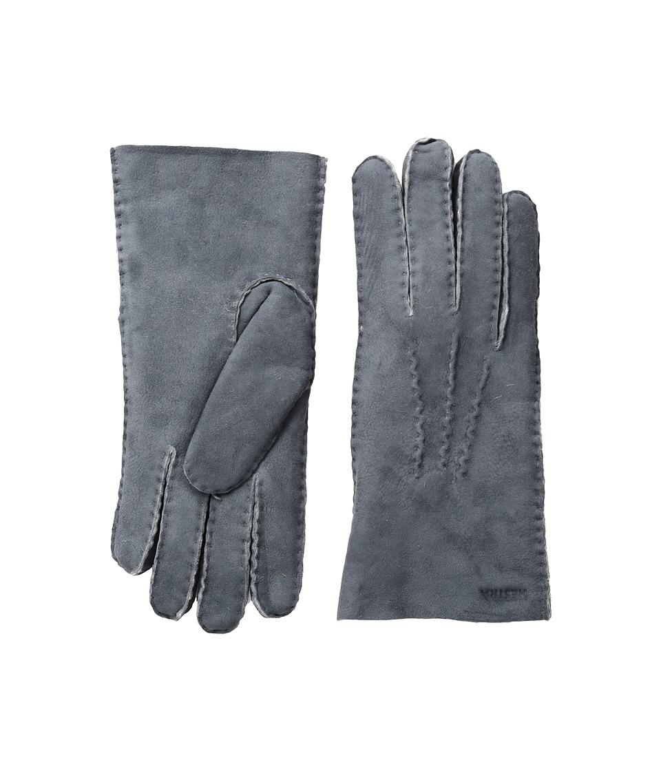 Hestra Sheepskin Gloves (Grey) Dress Gloves