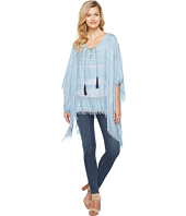 Vince Camuto - Woven Spacedye Stripe Tassel Tie Up Poncho