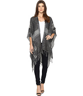 Vince Camuto - Woven Ikat Plaid Pocket Topper