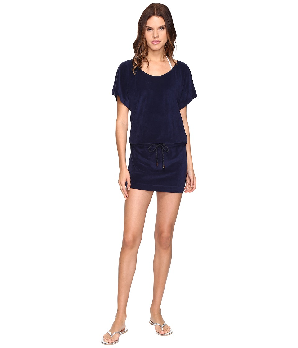 Vilebrequin Filou Terry T-Shirt Dress Cover-Up (Navy) Women