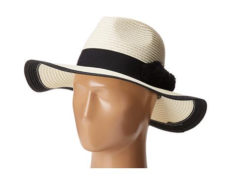 Michael Stars Pom Party Wide Brim Hat - Black