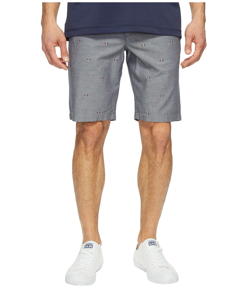 Original Penguin 10 Argyle Printed Oxford Shorts (Dark Sapphire) Men