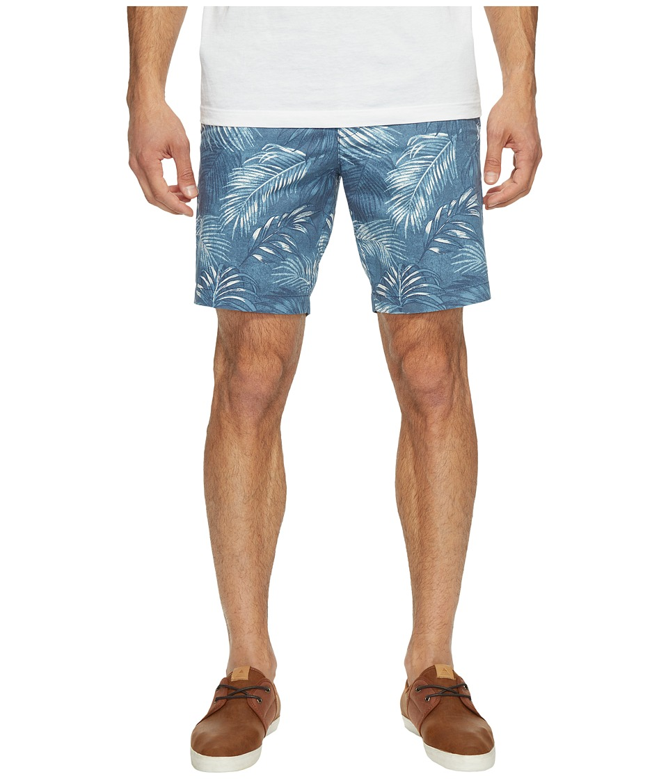 Original Penguin P55 8 Floral Printed Shorts (Dark Denim) Men