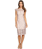 Jessica Simpson - Two-Tone Floral Lace Midi Dress