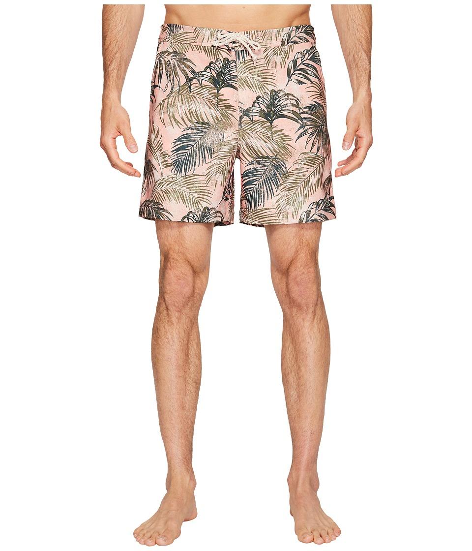 Original Penguin Stretch Tropical Leaf (Coral Almond) Men