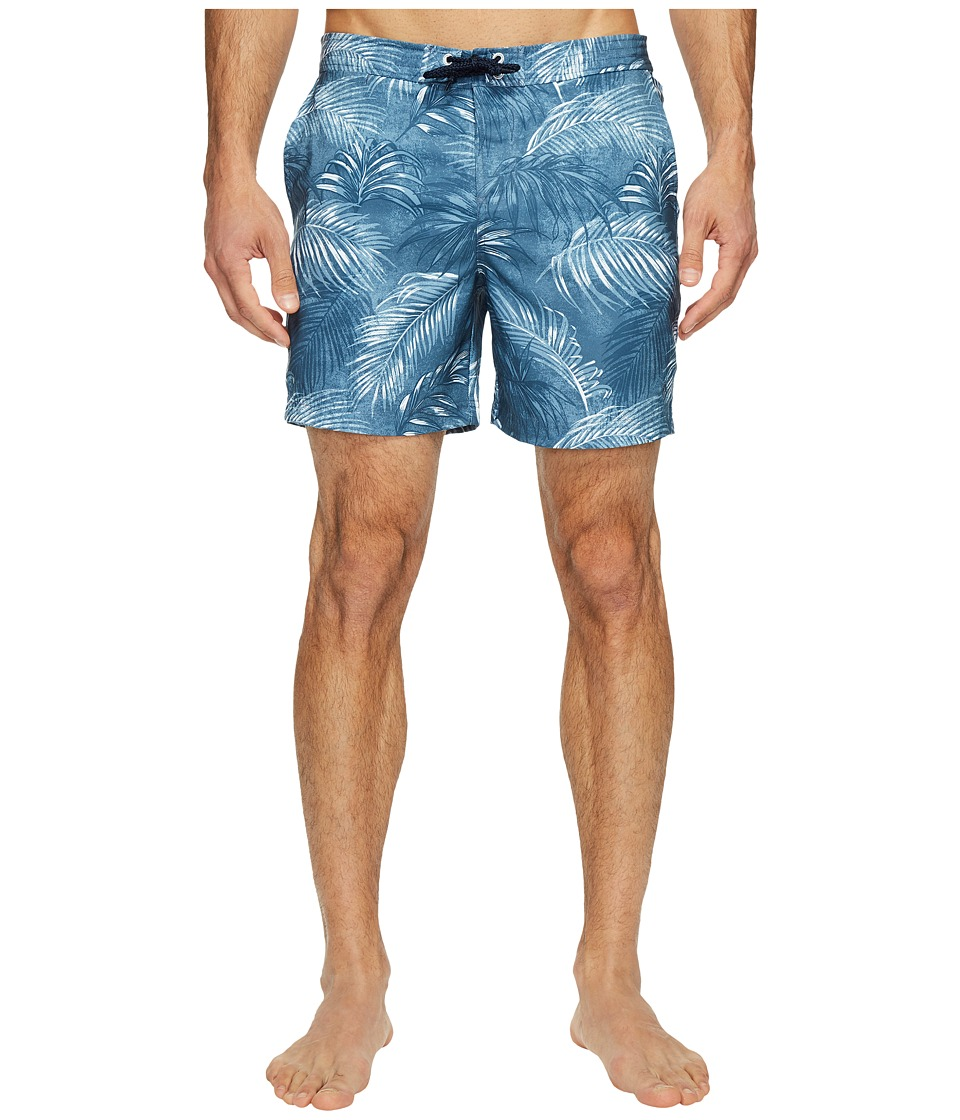 Original Penguin Stretch Tropical Leaf (Ballad Blue) Men