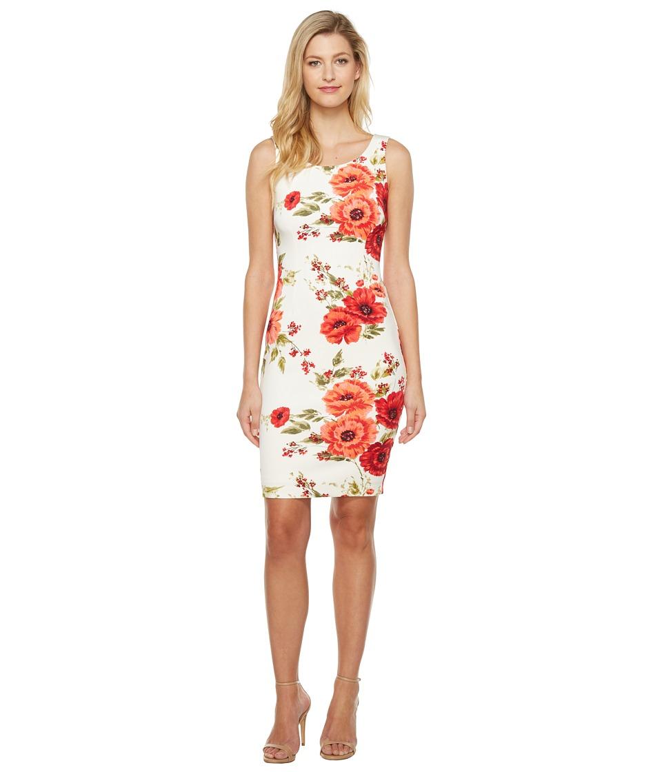 Jessica Simpson - Printed Scuba Dress (Print) Womens Dress