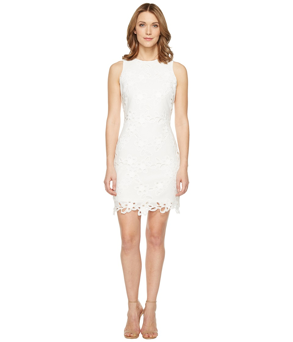 Jessica Simpson Chemical Lace Shift Dress (Ivory) Women