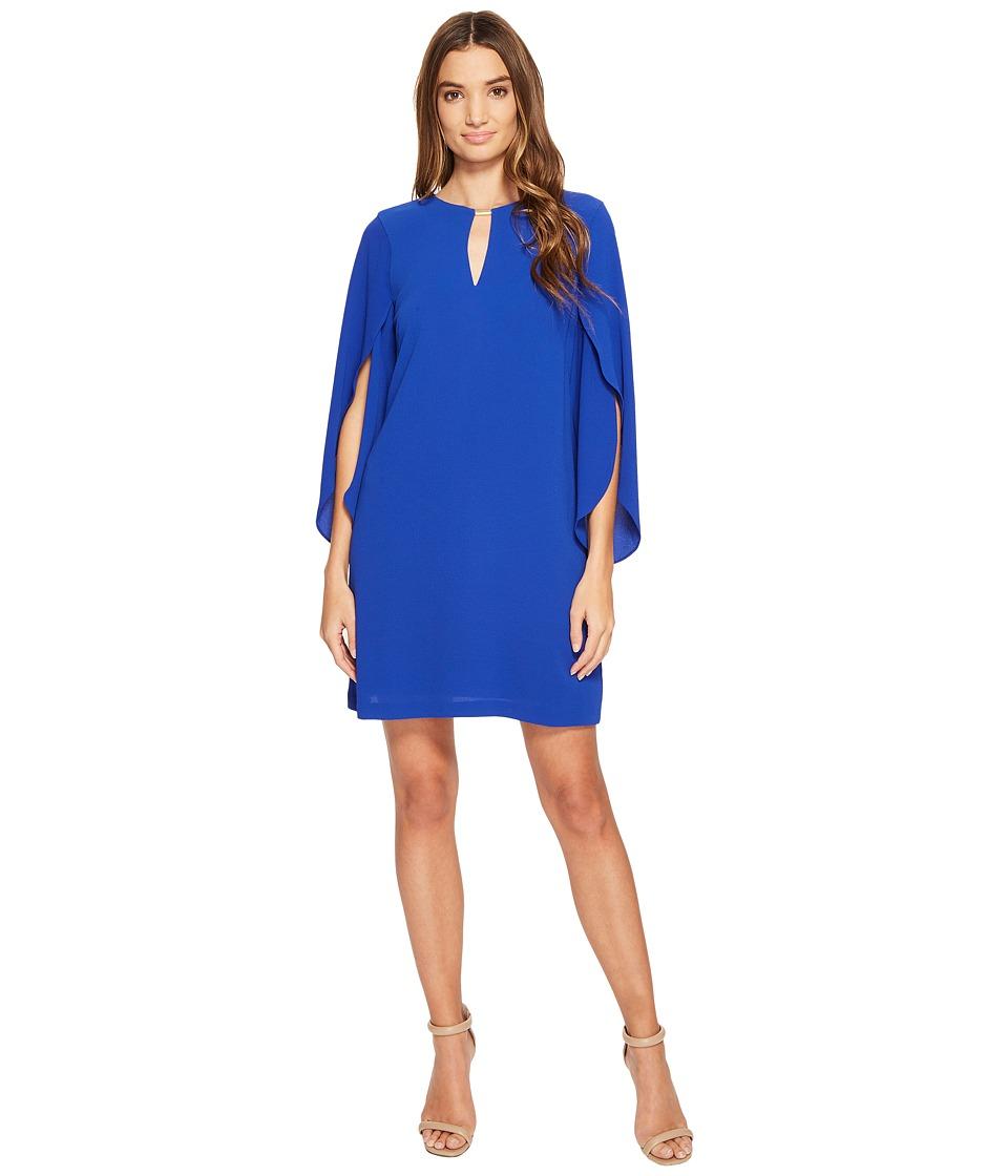 Jessica Simpson Flutter Sleeved Cut Out Dress (Cobalt) Women