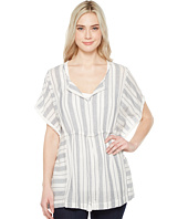 Dylan by True Grit - Sea Stripes Tie Pullover Tunic