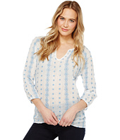 Dylan by True Grit - Prarie Pintuck Embroidery Blouse