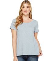 Dylan by True Grit - Soft Slub Cotton Short Sleeve Side Rib Ruffle Tee