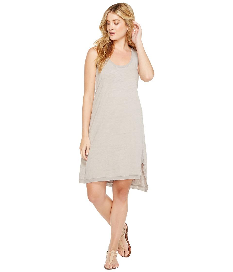 Dylan by True Grit Luxe Cotton Slub Asymmetrical Slit Dress (Heather) Women