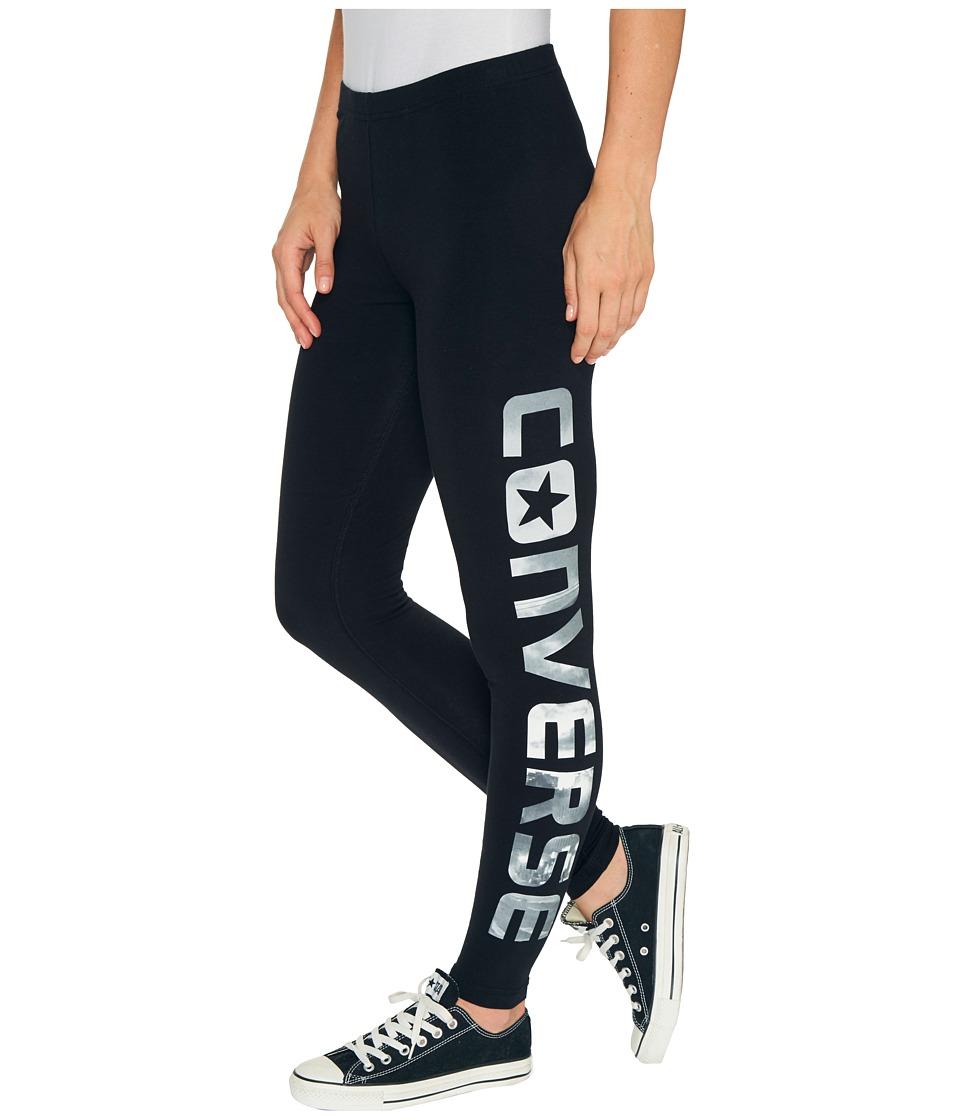 Converse Photoreal Wordmark Leggings (Black) Women