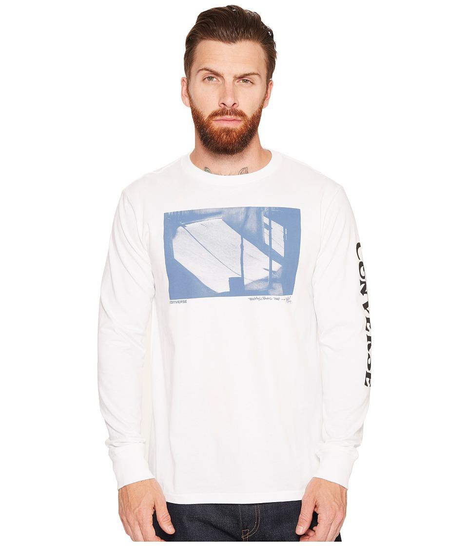 Converse Stash Long Sleeve Tee (Optical White) Men
