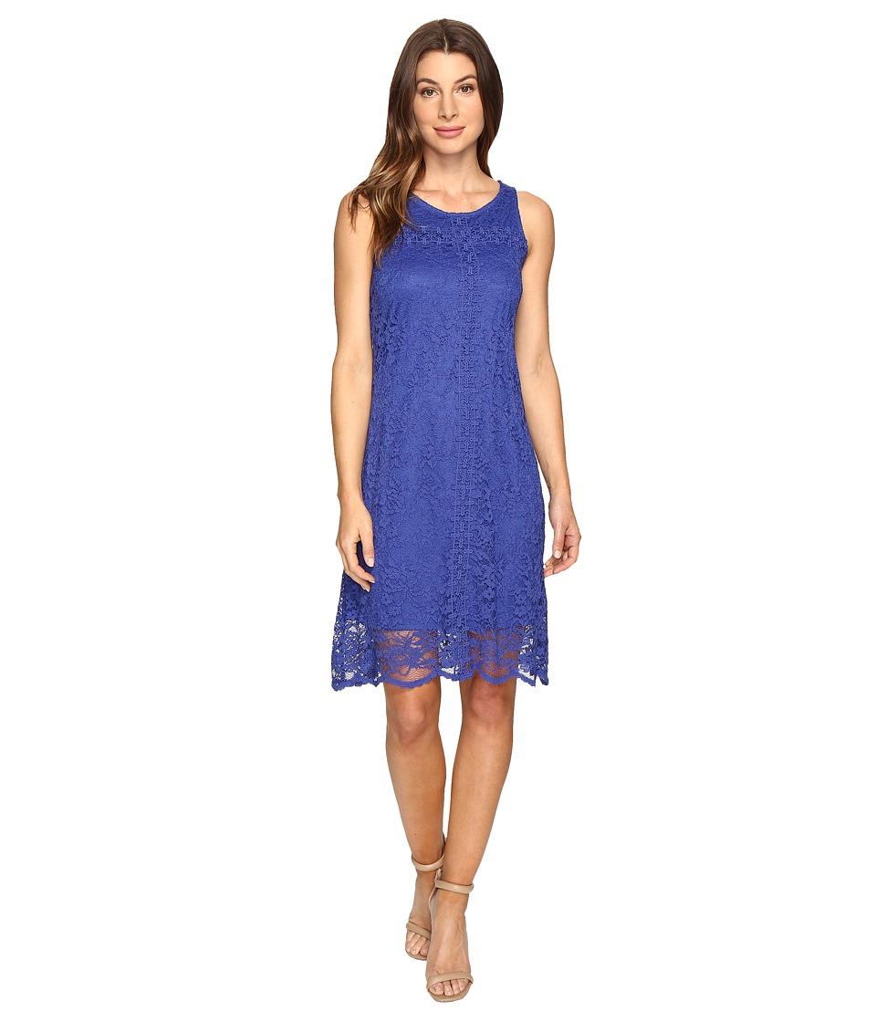 Christin Michaels Coffer Lace Dress (Navy) Women