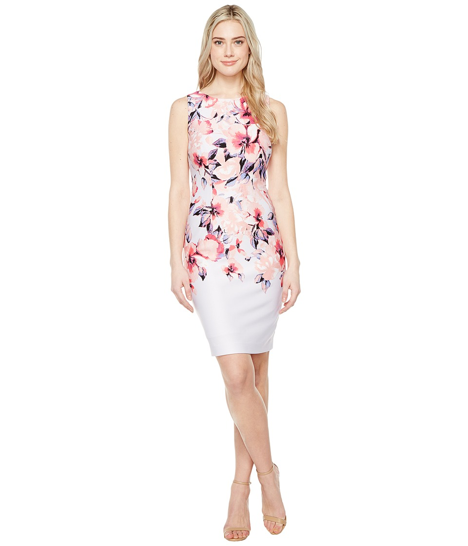 Christin Michaels Cortland Printed Dress (Misty Lilac/Blush) Women