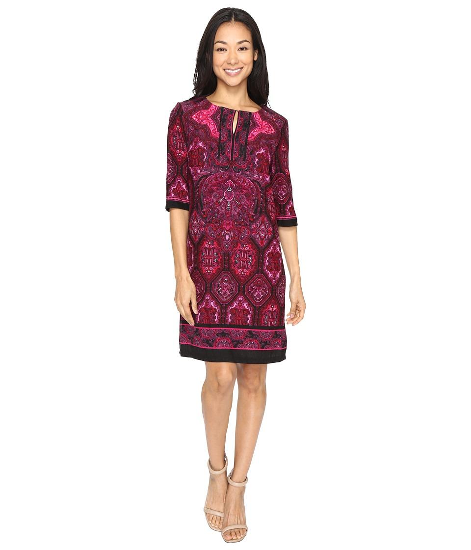 Christin Michaels Ingram Dress (Magenta/Black) Women