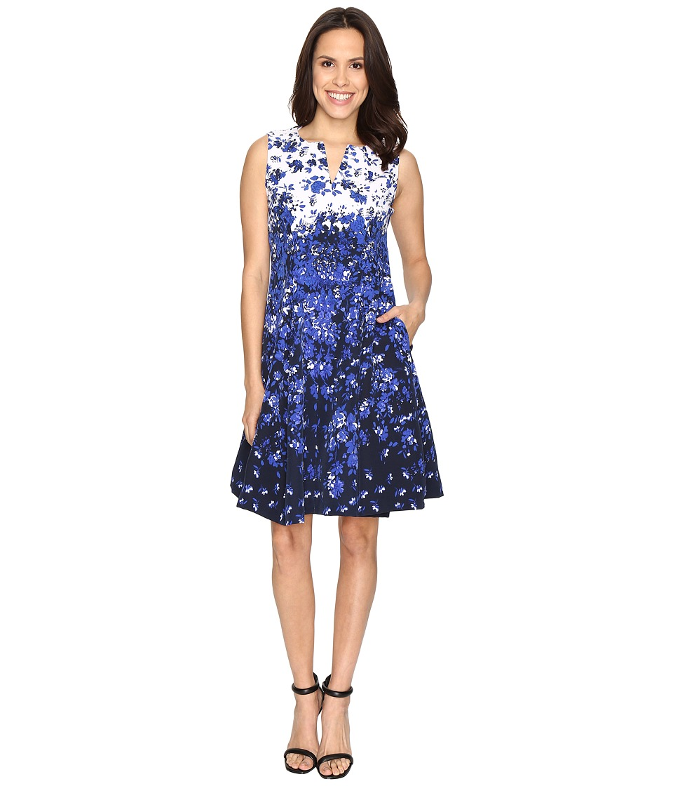 Christin Michaels Albany Beauty Fit and Flare (Navy/Ivory) Women