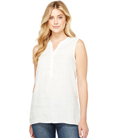 Dylan by True Grit - Luxe Linen Sleeveless Button Tunic
